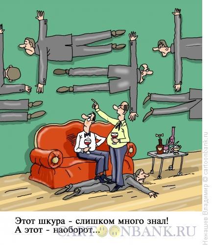 Карикатура: шкуры на стене, Ненашев Владимир