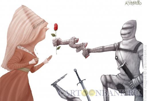 Карикатура: Победитель, Попов Андрей