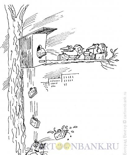 Карикатура: Возвращение из отпуска, Богорад Виктор