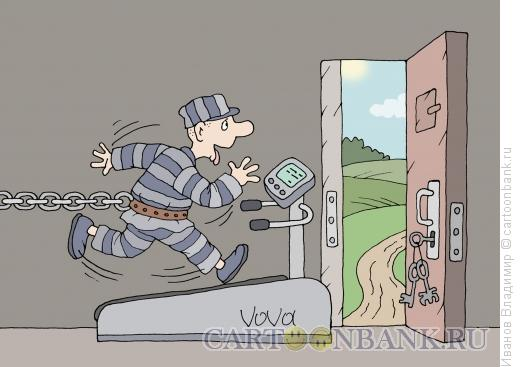 Карикатура: С мечтой о воле, Иванов Владимир