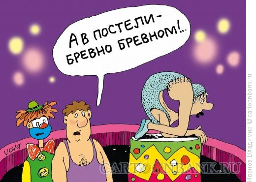 Карикатура: Бревно в постели, Иванов Владимир