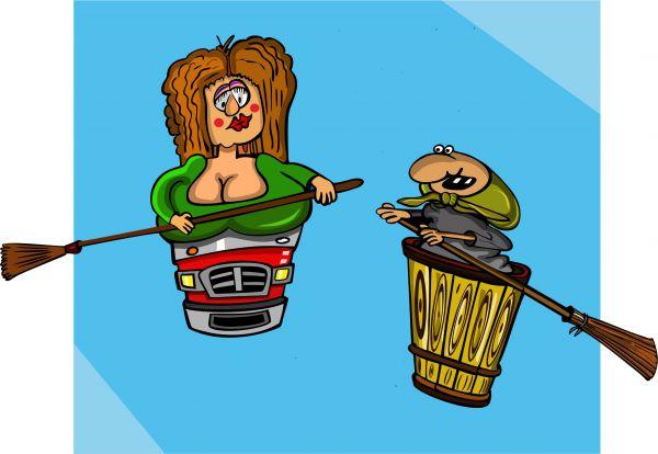 Карикатура: Ежки, somnambula