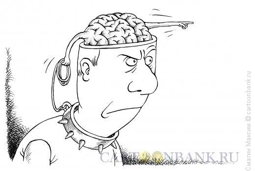 Карикатура: Мозг указующий, Смагин Максим