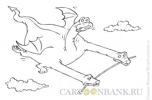 Карикатура: Случай в полете, Смагин Максим