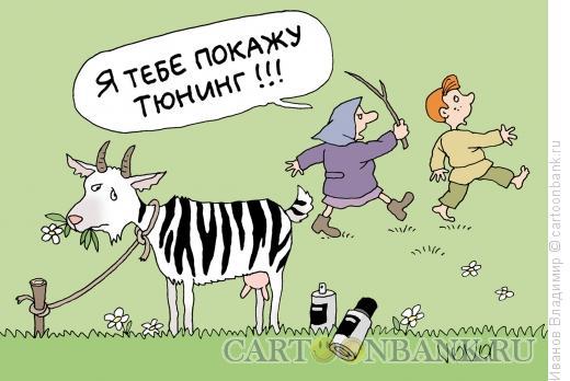 Карикатура: Тюнинг козе, Иванов Владимир