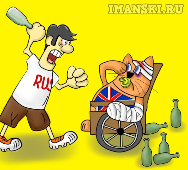 Карикатура: Читая Daily mail.Англичане пушистики,дети,инвалиды., Игорь Иманский