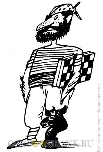 Карикатура: Шахматист, Валиахметов Марат