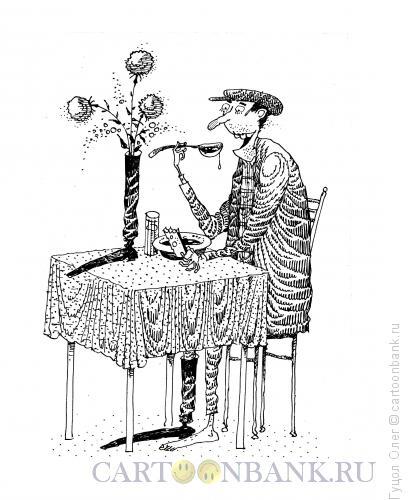 Карикатура: Ваза для цветов, Гуцол Олег