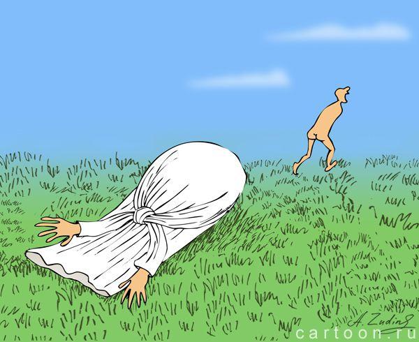 Карикатура: побег, Александр Зудин