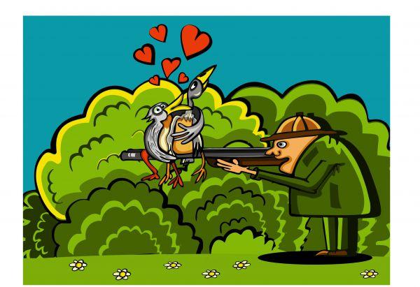 Карикатура: Love story, somnambula