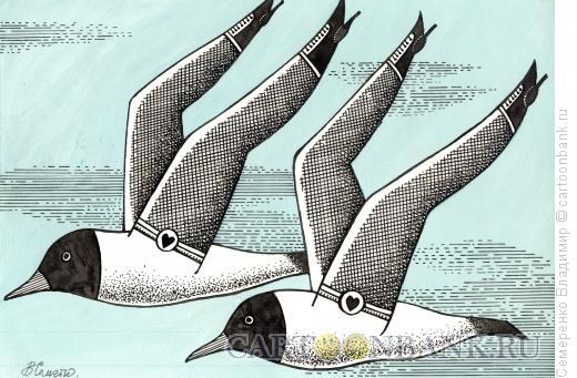 Карикатура: Чайки кабаре, Семеренко Владимир