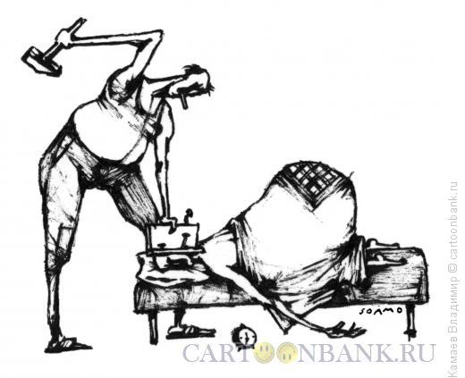 Карикатура: Ремонт у соседа, Камаев Владимир