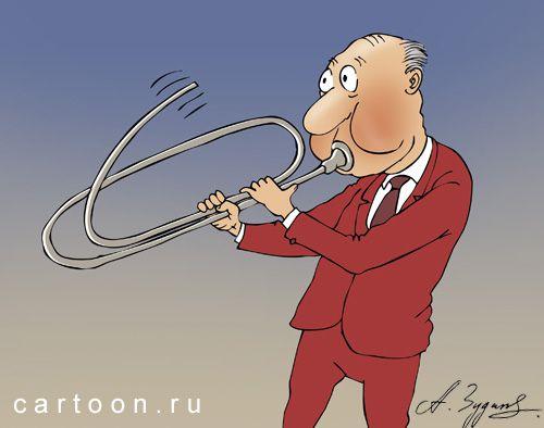 Карикатура: Духовная скрепа, Александр Зудин