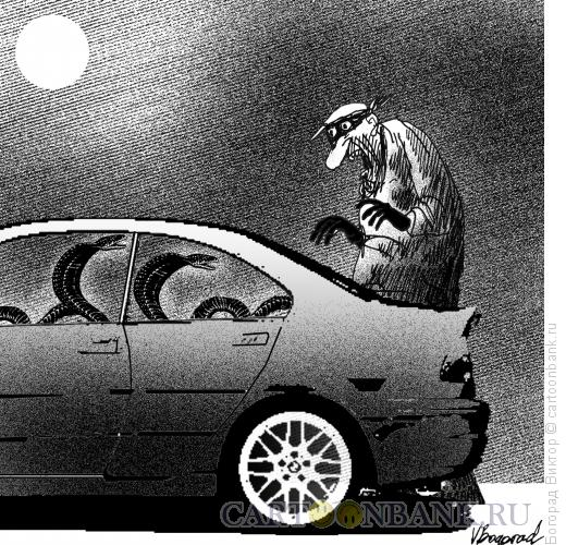 Карикатура: Надежная охрана от угона, Богорад Виктор