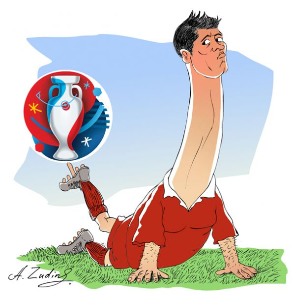Карикатура: Роналдо — чемпион !, Александр Зудин