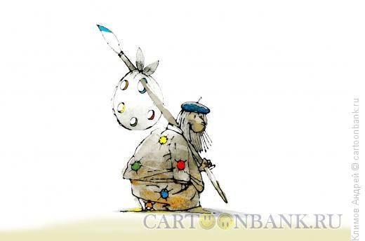 Карикатура: Солнечный художник, Климов Андрей