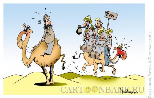 Карикатура: Маршрутка пустыни, Подвицкий Виталий