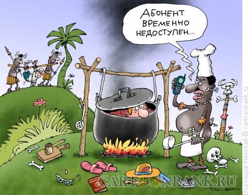 Карикатура: Абонент временно недоступен, Воронцов Николай