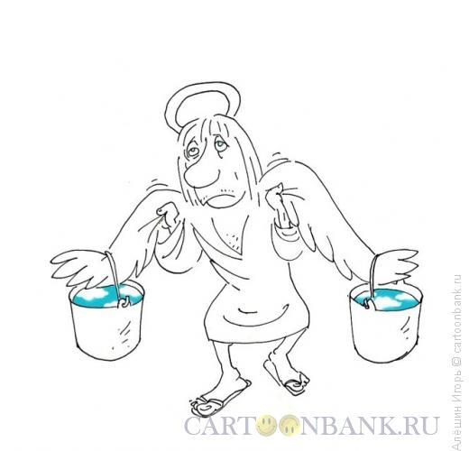 Карикатура: ноша, Алёшин Игорь