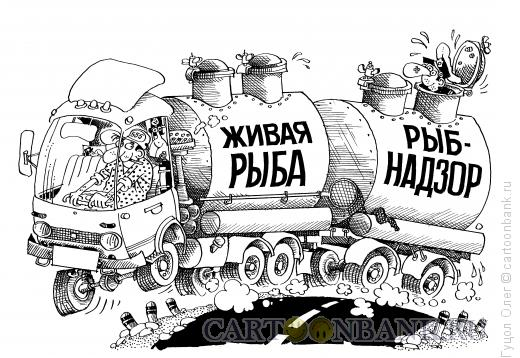 Карикатура: Рыбнадзор, Гуцол Олег
