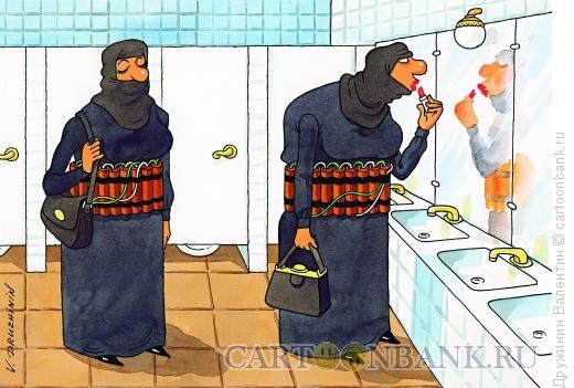Карикатура: Шахидки, Дружинин Валентин