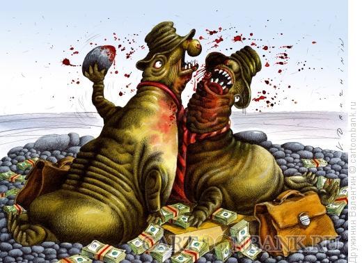 Карикатура: Схватка, Дружинин Валентин