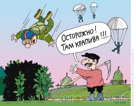 Карикатура: Осторожно - крапива!, Иванов Владимир
