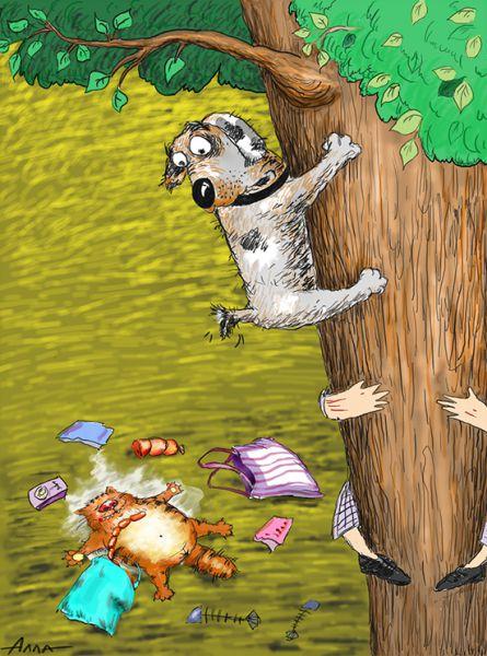 Карикатура: барсик, Алла Сердюкова