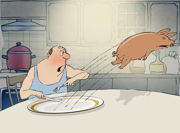 Карикатура: Приятного аппетита!, Александр Зудин