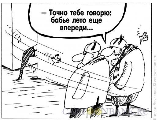 Карикатура: Бабье лето, Шилов Вячеслав