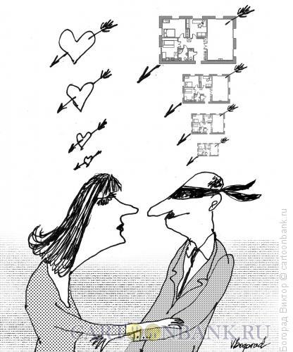 Карикатура: Любовь по расчету, Богорад Виктор