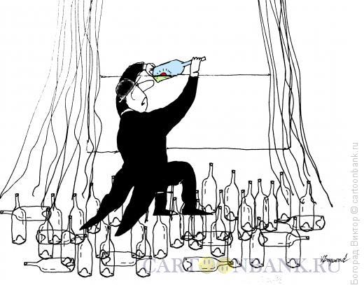 Карикатура: Похмелье, Богорад Виктор