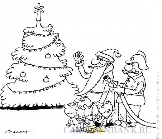 Карикатура: Раз-два-три, Воронцов Николай