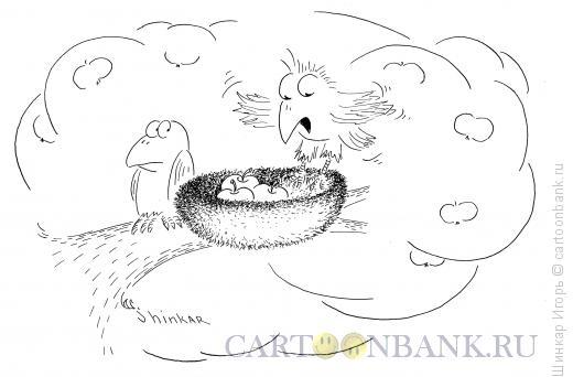 Карикатура: Вороны в саду, Шинкар Игорь