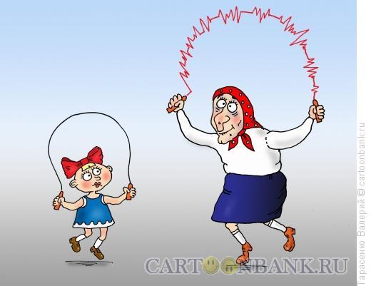 Карикатура: Кардиограмма, Тарасенко Валерий