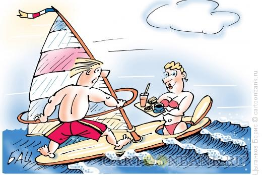Карикатура: Милый, ты проголодался?, Цыганков Борис