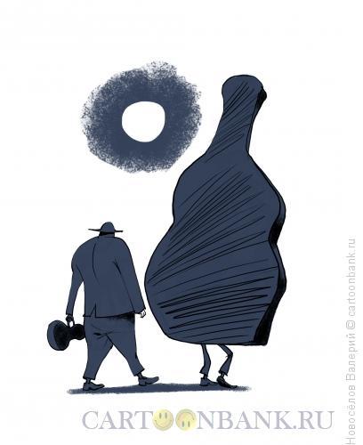 Карикатура: музыканты в пути, Новосёлов Валерий