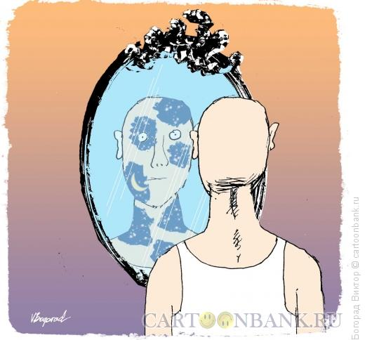 Карикатура: На лице следы ночи, Богорад Виктор