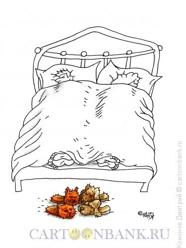 Карикатура: тапочки, Кононов Дмитрий