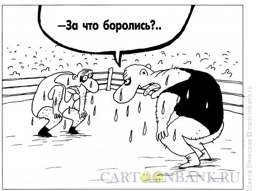 Карикатура: Борцы, Шилов Вячеслав