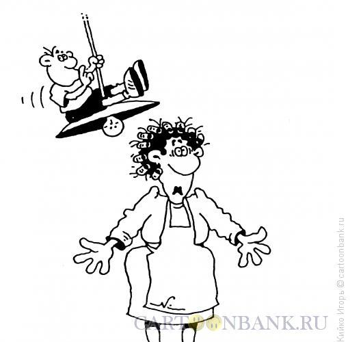 Карикатура: Спрятался, Кийко Игорь