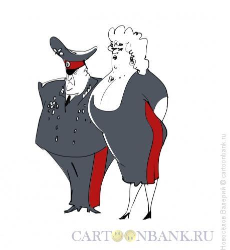 Карикатура: Генеральша, Новосёлов Валерий