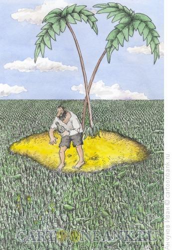 Карикатура: Остров, Анчуков Иван