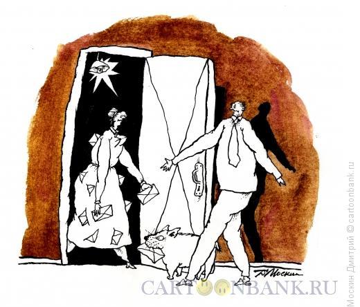 Карикатура: почтальон, Москин Дмитрий