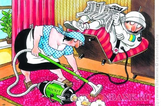 Карикатура: Взлетел, Дружинин Валентин