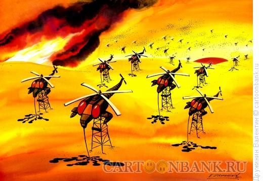Карикатура: Вертолет комар, Дружинин Валентин