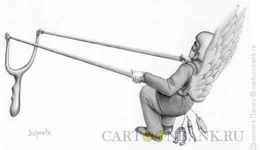 Карикатура: летающая машина, Далпонте Паоло