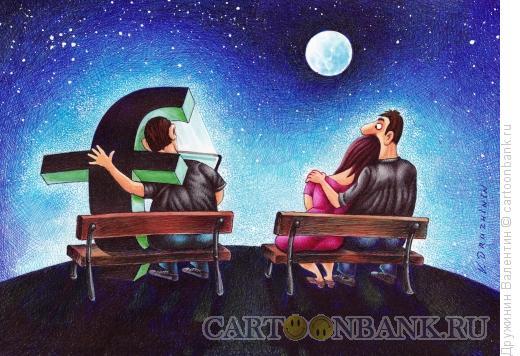 Карикатура: В обнимку с Фейсбуком, Дружинин Валентин