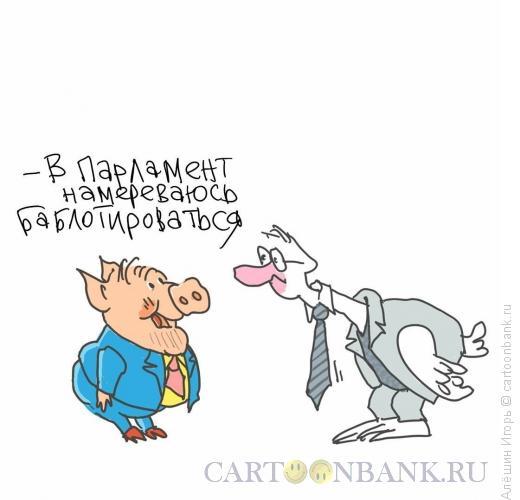 Карикатура: выборы в парламент, Алёшин Игорь