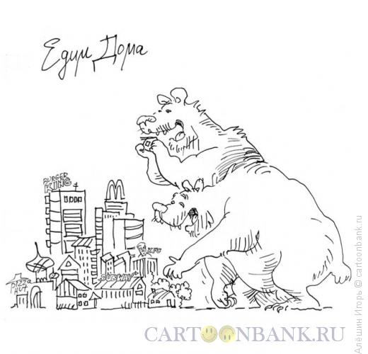 Карикатура: едим дома, Алёшин Игорь